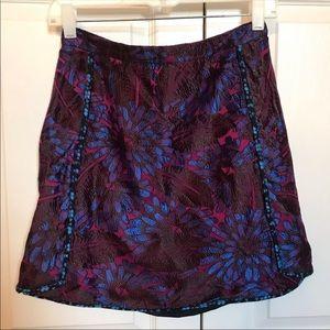 Jcrew Mini Skirt In Midnight Floral Jacquard